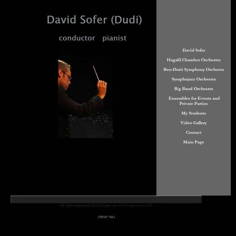 David Sofer Conductor Pianist